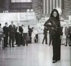 Diana Ross at Grand Central Station, New York City, 1968