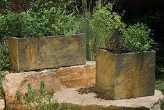Stone Forest slate planters.