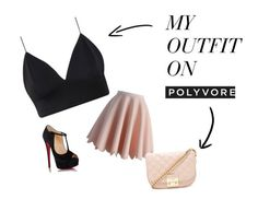 """""""Simple Pink n Black"""" by fearlesscy on Polyvore featuring Chicwish, Christian Louboutin and Forever 21"""