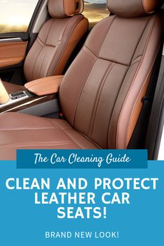 Leather car seats greatly increase the appearance and feel of a car's interior. This guide will teach you how to easily clean and protect leather car seats! Clean Leather Car Seats, Clean Car Seats, Car Cleaning Hacks, Car Hacks, Seat Cleaner, High End Cars, Auto Detailing, Leather Conditioner, Leather Cleaning