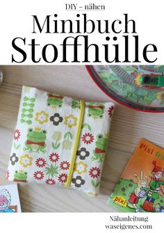 DIY nähen - #Stoffhülle #Minibuch #Nähanleitung, waseigenes.com DIY Blog