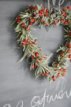 DIY | Lavender and rose berry holiday wreath | via flickr