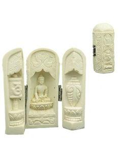 Kleine boeddha in drieluik box
