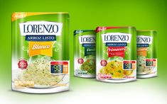 Packaging and branding design for the new ready rice Lorenzo