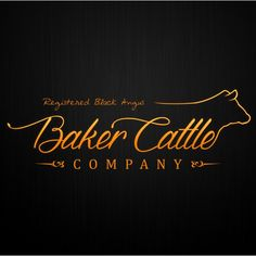 Baker Cattle Company - Create a new business logo for Baker Cattle Company