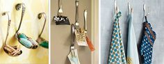 old utensils turned into wall hooks
