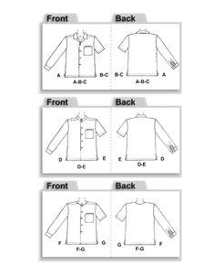 MCCALL s Patterns M2149/Hombres de Camisas Medium