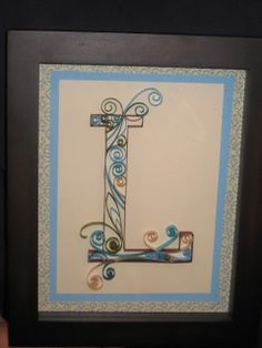 Laura Thoughts: Monogram Quilling Tutorial