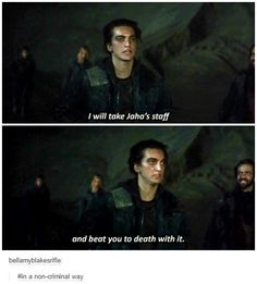 John Murphy || The 100 season 2 episode 14 - Bodyguard of Lies || Richard Harmon this was the best part of the whole episode