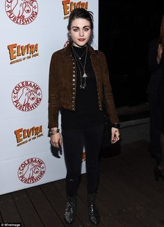 Frances Bean Cobain at Elvira Mistress of the Dark book launch