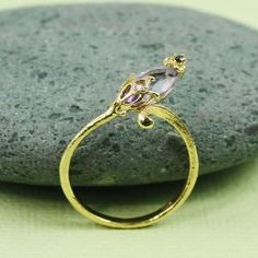 Gold Amethyst - I love delicate jewelry