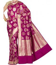 Pink Banarasi Handloom Pure Katan Silk Saree