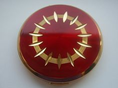 Vintage Stratton Red and Gold Compact by LincaraVintage on Etsy, $35.00
