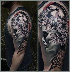 RedBerry Tattoo Studio Wrocław #tattoo #inked #ink #studio #wroclaw #warszawa #tatuaz #gdansk #redberry #katowice #poland #krakow #berlin #crow #kruk #dark #graphic #surreal #surrealizm #black #rose #roza #portrait #woman #timur #lysenko