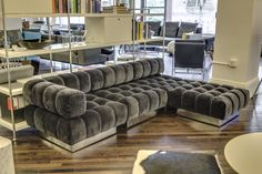 from BRAND for a sumptuous sectional with plump, tufted cubes; available in three basic units Home Room Design, Home Interior Design, Living Room Designs, Living Room Decor, Furniture Layout, Living Furniture, Home Decor Furniture, Luxury Homes Interior, Luxury Home Decor