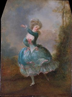 Dancer (c.1778-1788). Jean Frédéric Schall  (French, 1752–1825). Oil on wood. MMOA.