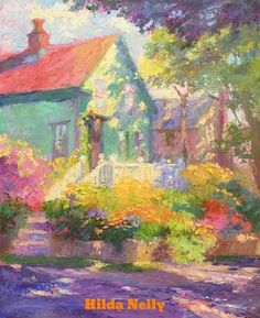 Landscape Basics with Hilda Neily, August 14 - 9 am to 12 pm House Landscape, Urban Landscape, Abstract Landscape, Landscape Paintings, Painting & Drawing, Watercolor Paintings, Artsy Background, Impressionist Artists, Paintings I Love