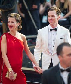 Benedict Cumberbatch Sophie Hunter Oscars 2015