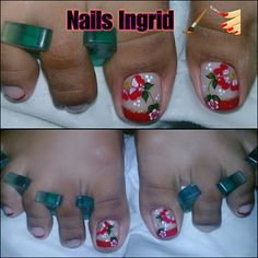 Cute Pedicure Designs, Toe Nail Designs, Toe Nail Art, Toe Nails, Cute Pedicures, Magic Nails, Christmas Nail Art, S Pic, Toenails