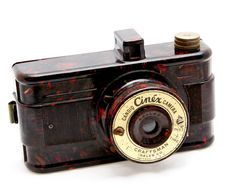 Marbleized Bakelite Camera  Candid Cinex  Chicago by OldieCameras, $185.00