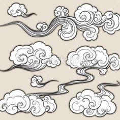 Resultado de imagen de japanese clouds tattoo