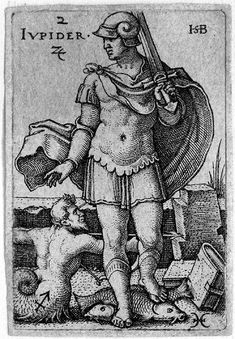 Beham, (Hans) Sebald (1500-1550): Jupiter, from The Seven Planets with the Signs of the Zodiac, 1539 (Bartsch 115; Pauli, Holl. 117)