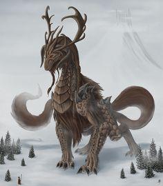 Valknjöggr - Un gran dragón nombrado por Odin para vigilar a Valhalla, mientras que el Einherjar prepararse para Ragnarok. Se cree que esta criatura fue elaborado por la corteza de Yggdrasil, una uña de la helada gigante Ymir, así como la propia sabiduría de Odín, la fuerza de Thor, y el coraje y la lealtad de Tyr. Una vez que el alma de un héroe muerto es llevado a Asgard son juzgados por Valknjöggr antes de que se les permita el paso a la gran sala de los muertos, Valhalla