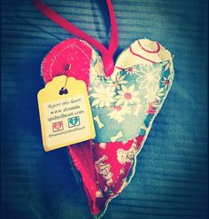 This adorable little heart was found in Sacramento, California. #ifoundaquiltedheart