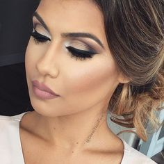"""Another one of my gorgeous clients from the weekend! Went for a monochromatic dusty mauve look... And it suited her perfectly! My absolute fave tones to work with for weddings ❤️ @hudabeauty Samantha lashes @anastasiabeverlyhills dusty rose + pure Hollywood liquid lips @morphebrushes flawless brush set @salehabeauty Hollywood gold highlight use code """"DYF15"""" for 15% off salehabeauty.com"""