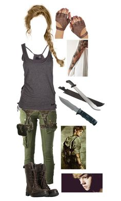 Designer Clothes, Shoes & Bags for Women Mode Apocalypse, Zombie Apocalypse Outfit, Apocalypse Fashion, Tv Show Outfits, Fandom Outfits, Teen Fashion Outfits, Casual Outfits, Runners Outfit, Adventure Outfit