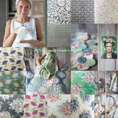 Tilda. Painting Flowers Collection,  2015년 Summer Collection 한정판이 출시 되었습니다.  행복한 핸드메이드 아뜰리에, 봉봉소잉으로 문의주세요. 02-545-9991
