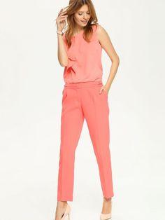 Bluzka damska Top Secret z kolekcji wiosna-lato - total look coral