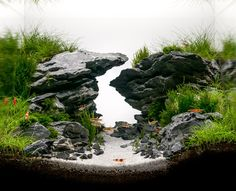 'Zigzag gorge' by Louis Nincsics HAC 2014 entry Very beautiful nano scape! Nice touch!