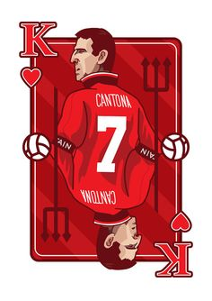 Hey, I found this really awesome Etsy listing at https://www.etsy.com/listing/217663157/king-eric-cantona-playing-card-print