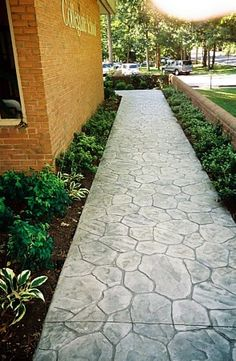 more stamped concrete @ do it yourself home ideas | diy projects ... - Patio Walkway Ideas