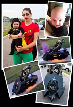 Batman and Robin! My son and I Halloween 2013 homemade batmobile stroller by Billy Torres