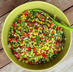 Edamame Summer BBQ Salad Clean Eating http://cleanfoodcrush.com/edamame-salad/