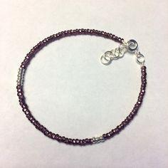 Crystal Dark Purple and Silver Bracelet Dark Purple, Delicate, Crystals, Bracelets, Silver, Jewelry, Products, Jewlery, Jewerly