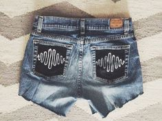 AM high waisted shorts handpainted arctic monkeys