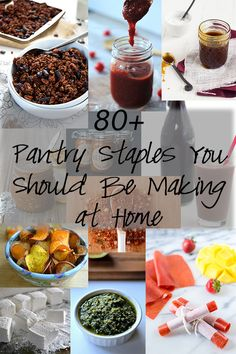Making your own pantry staples allows you to customize the flavors, control what goes into your food, and maybe save you even a little bit of money! I have gathered a round of 80 recipes to help you start whipping up fresh DIY foods today! Everything from Cookies and Cream Peanut Butter to Strawberry Mango Fruit Leather and even individual frozen pizza's!