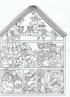 tekening 4 Sprookjes in een huis