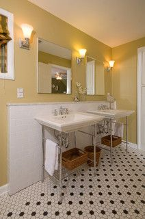 Console Sink and Beaded Tile