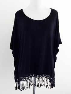 Tautmun - SUCHES FRINGED TEE - BLACK, $18.99 (http://www.tautmun.com/suches-fringed-tee-black/)