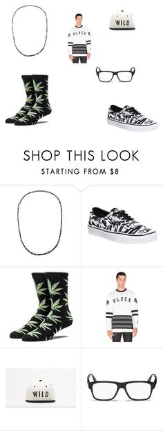 """""""Blvck but white"""" by sirrekage ❤ liked on Polyvore featuring Forever 21, Vans, Black Scale, Kill Brand, Prada, men's fashion and menswear"""