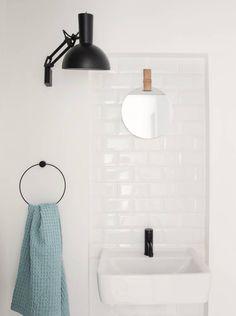 Ferm Living Handdoekring zwart metaal ø20,5cm - wonenmetlef.nl