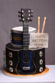 Phenomenal 126 Best Guitar Cakes Images In 2020 Guitar Cake Guitar Cake Funny Birthday Cards Online Barepcheapnameinfo
