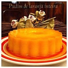 Pudim de Laranja Inteira | SaborIntenso.com Pudding Pies, Food Network Recipes, Pasta Recipes, Chocolate, Food Inspiration, Quiche, Buffet, Cheesecake, Deserts