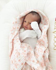 1 week old! @maya_926 Garden Rose Muslin available at spearmintLOVE.com