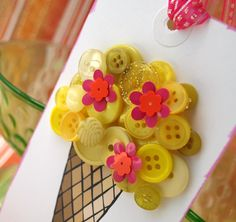 Ice Cream Cone Tag by psitsinthedetails on Etsy, $10.00