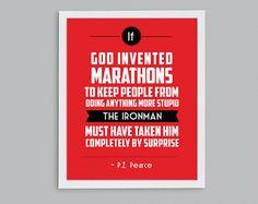 Ironman Triathlon 140.6 Retro Print  Lake by StephLawsonDesign, $15.00